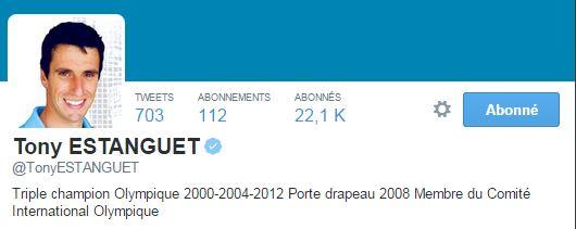 Avec plus de 21 000 followers, le champion met beaucoup en avant ses activités au CIO