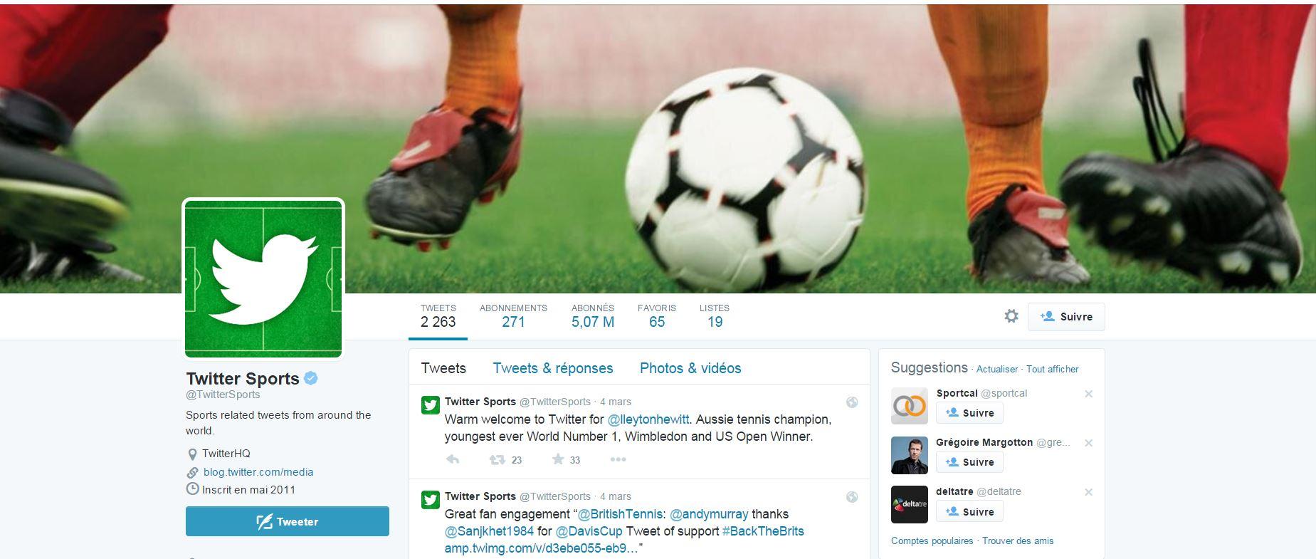 Les sportifs à suivre sur Twitter