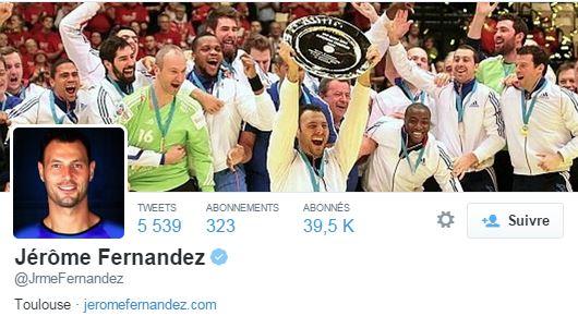 Suivi par plus de 39 000 fans, le handballeur est un pro du Retweet !