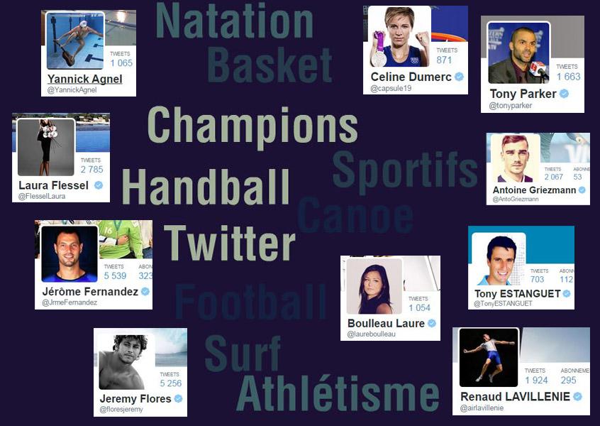 Les sportifs tweetent des scènes de leur vie quotidienne, félicitent des collègues ou s'adressent à leurs fans