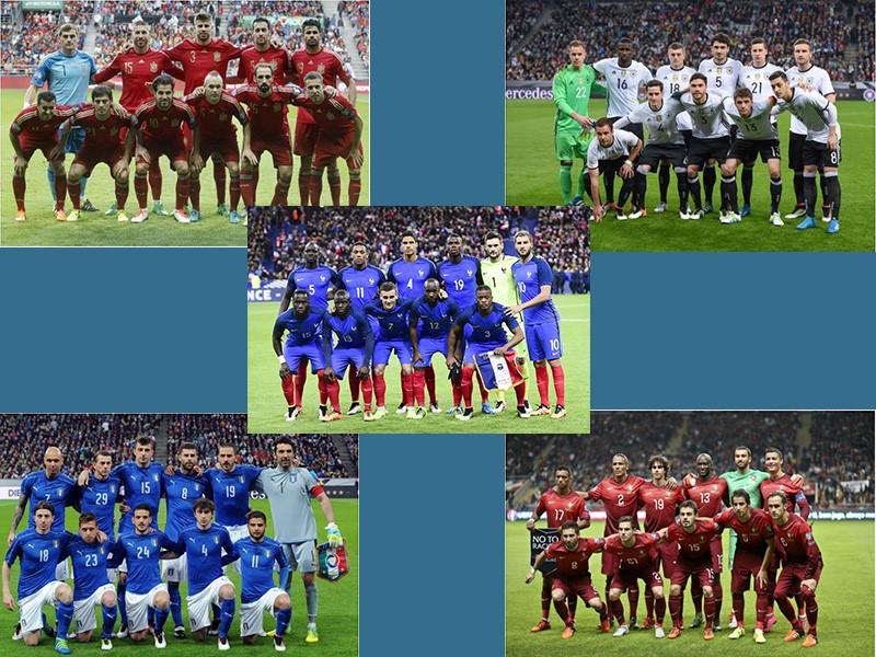 L'Allemagne, l'Espagne, L'Italie, le Portugal, l'Angleterre et la France possèdent d'énormes chances d'accéder à la finale de l'Euro 2016